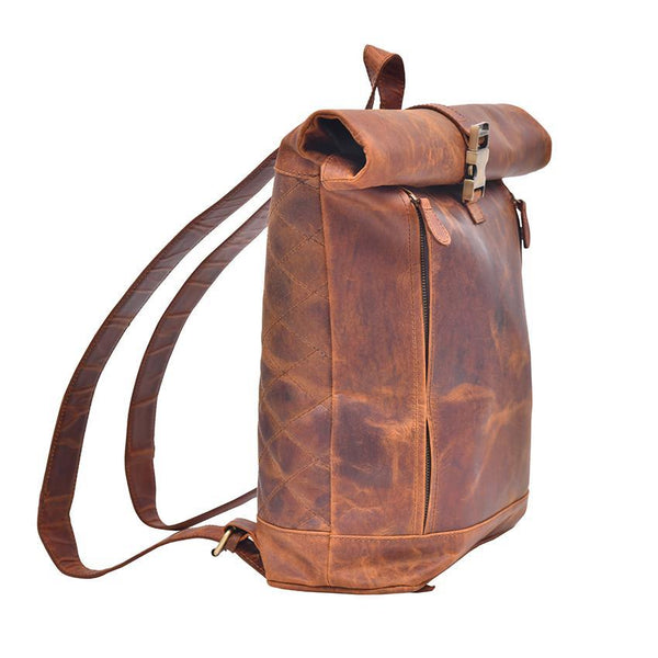 MONTEXOO07 ROLLING GENUINE LEATHER BACKPACK
