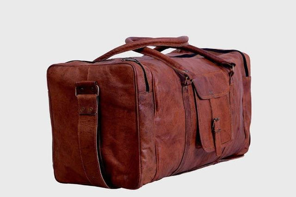 Best Leather Duffle Bag Travel Weekender Baggage Square