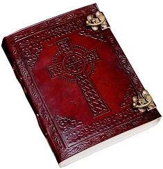 CELTIC CROSS LEATHER JOURNAL DIARY