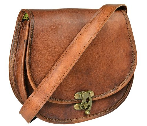 Handmade Genuine Goat Leather Women's Crossbody Sling