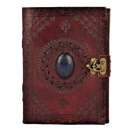 LEATHER JOURNAL WITH PRECIOUS STONE