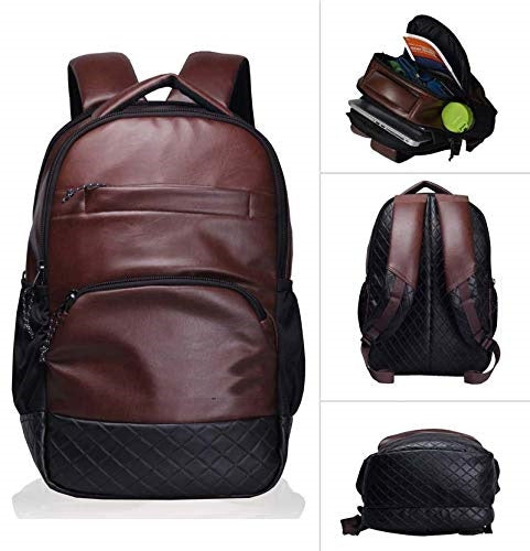 PU leather backpack for men women 18 inch