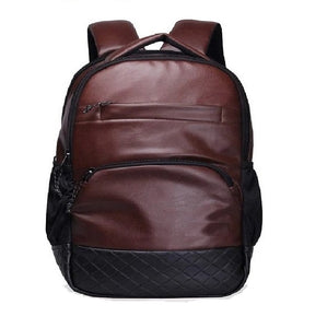 PU LEATHER BACKPACK FOR MEN WOMEN