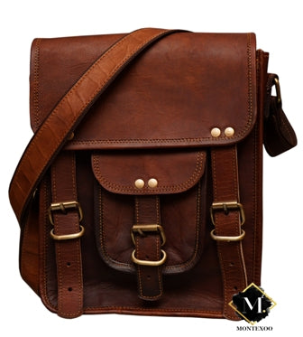 Small Leather Messenger Bag Tablet ipad Cases 11 inch
