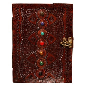 VINTAGE LEATHER JOURNAL SEVEN STONE