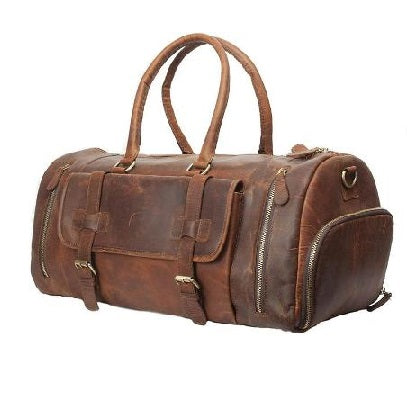 VINTAGE DUFFLE BAG WITH SHOE COMPARTMENT