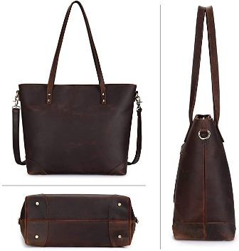 Leather Tote Handbag For Women
