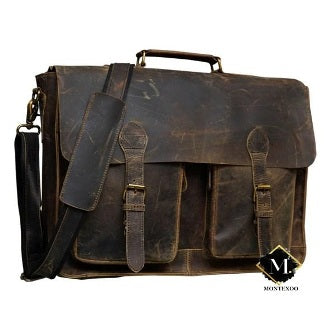 BUFFALO LEATHER BRIEFCASE MESSENGER BAGS