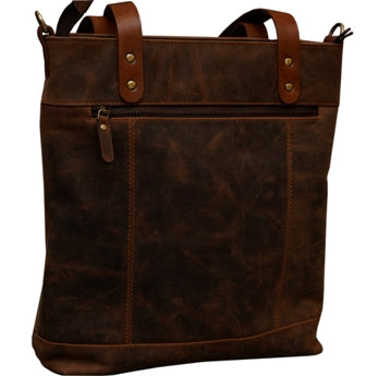 BUFFALO LEATHER TOTE HANDBAG FOR WOMEN