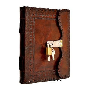 VINTAGE LEATHER JOURNAL WITH LOCK