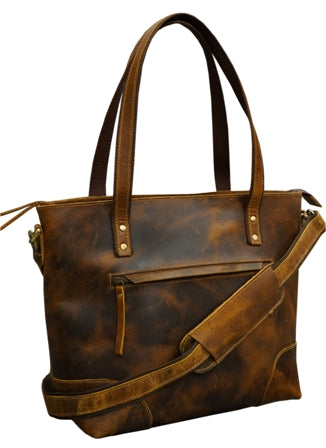 LEATHER TOTE HANDBAG FOR WOMEN PURSE