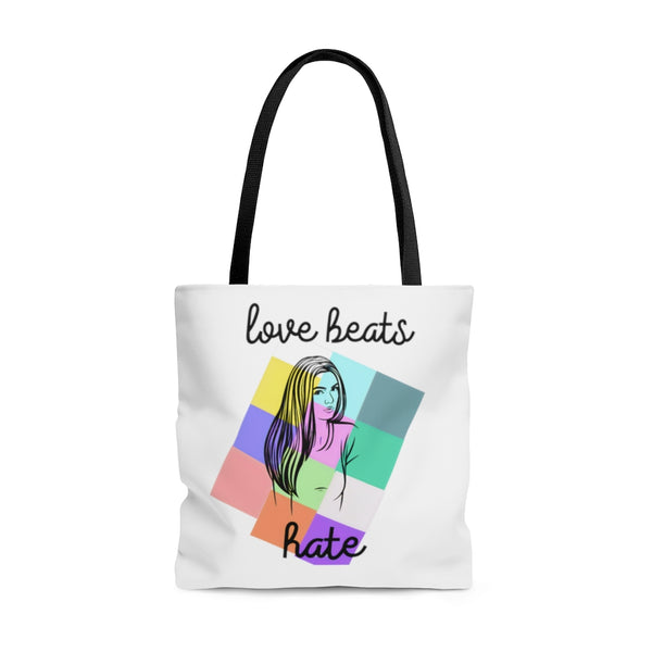 """Love Beats Hate"" tote bag"