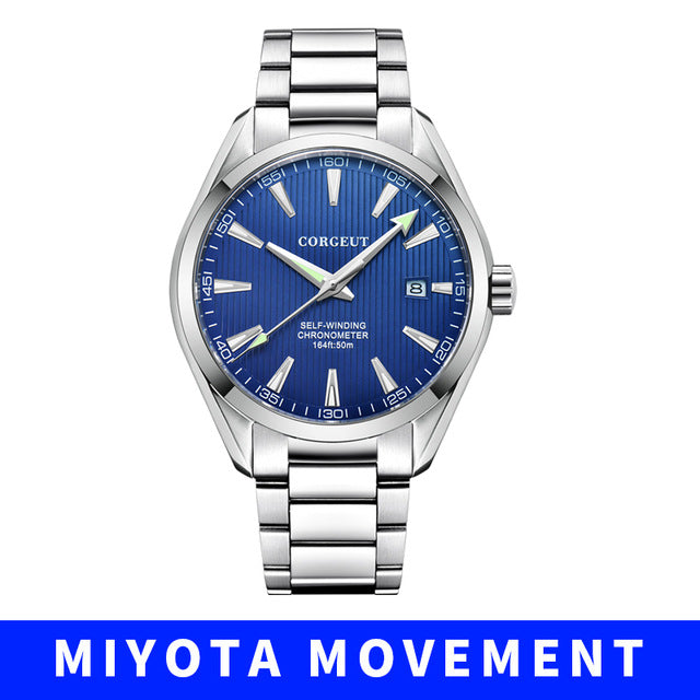 Corgeut 41mm men clock miyota 8215 Automatic
