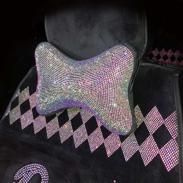 Crystal Car Seat Belt Cover Pad Neck Pillow Diamond