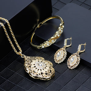 SUNSPICEMS Gold Color Arabic Necklace