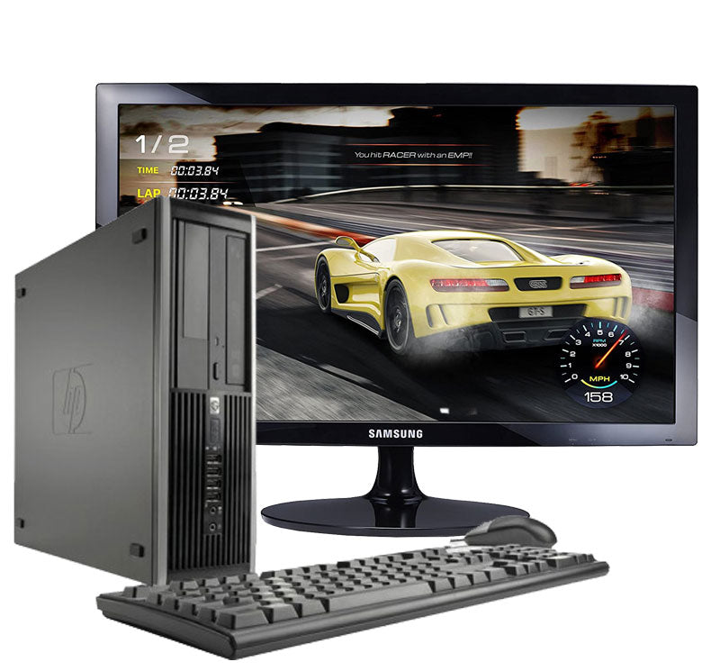 Hp Elite 8300-desktop computer + Monitor 24 ''