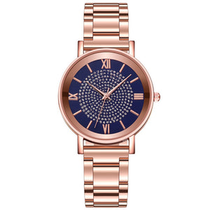 luxe diamant or Rose dames montres magnétiques