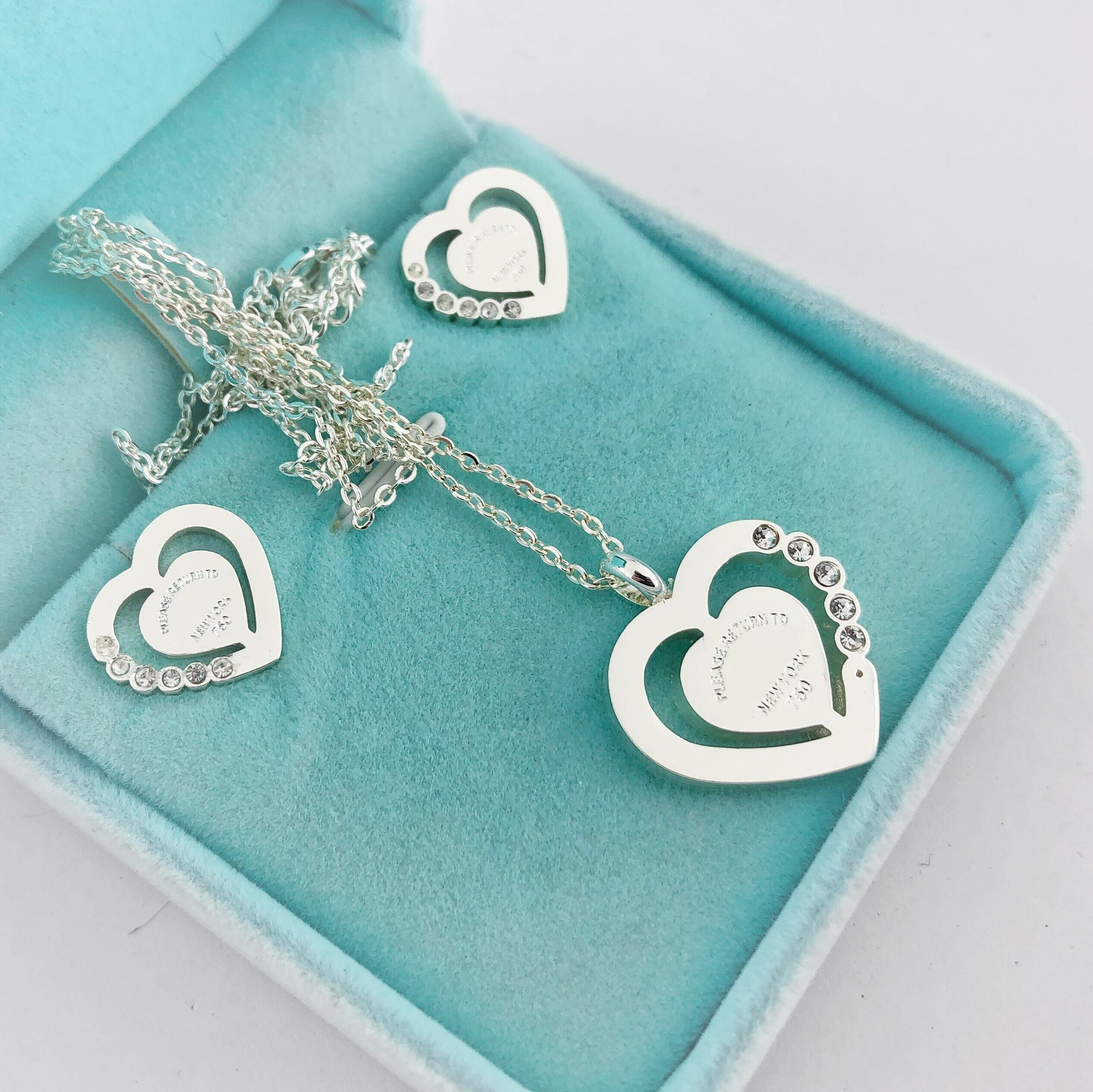 Stainless steel jewelry heart necklace