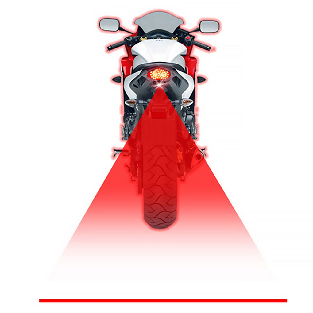 Car Motorcycle LED Warning Light Anti-collision