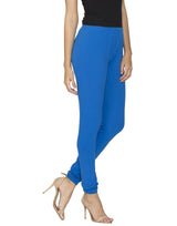 Libertina Royal Blue Solid Jersey Lycra Churidar Leggings for Women