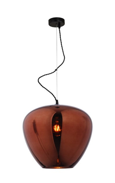 Hanglamp Uurna Glass Copper diameter 40cm