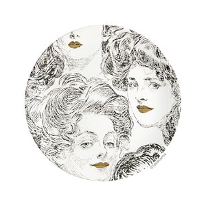 Decorative Wall Plate Golden Lips Ladies
