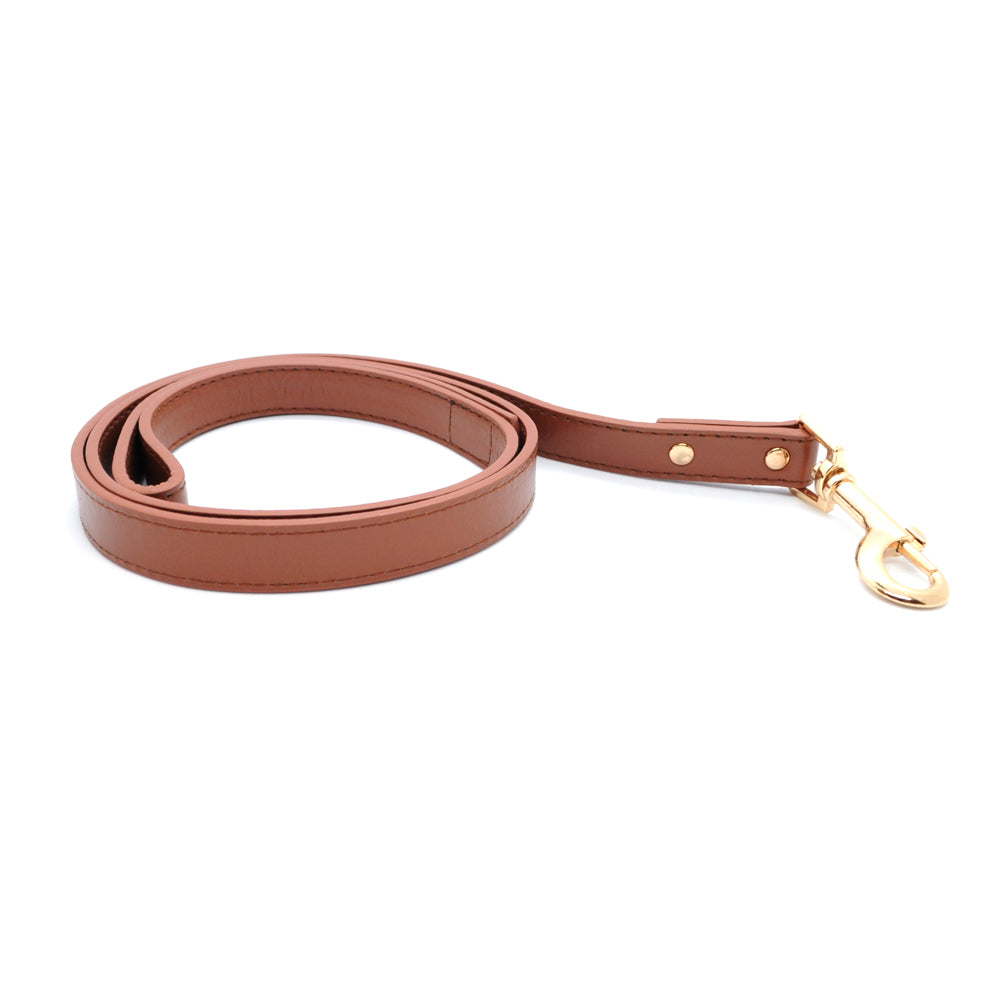 Brown - Premium Pet Lead (Gold)