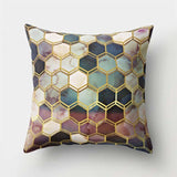 2BZ-40507-15 Brief Marble Geometric Sofa Decorative Cushion Cover Pillow Pillowcase Polyester 45*45 Throw Pillow Home Decor Pillowcover 40507 24972621-2bz-40507-15