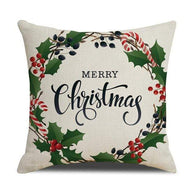 450mm*450mm / Christmas Wreath Christmas Cushion Cover 40945692-450mm-450mm-china-c