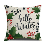 450mm*450mm / Hello Winter Christmas Cushion Cover 40945692-450mm-450mm-china-a