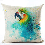 450mm*450mm / M2221-4 Cosy Colorful Birds Throw 40945677-450mm-450mm-china-m2221-4