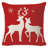 450mm*450mm / Reindeer Cheer Christmas Cushion Cover 40945692-450mm-450mm-china-e