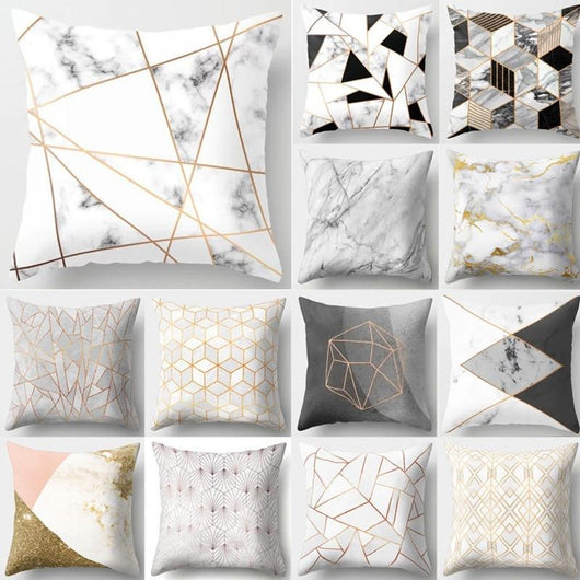 2BZ-40507-169 Brief Marble Geometric Sofa Decorative Cushion Cover Pillow Pillowcase Polyester 45*45 Throw Pillow Home Decor Pillowcover 40507 24972621-2bz-40507-169