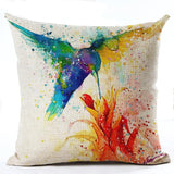 Cosy Colorful Birds Throw