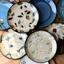 Cosy Hand-Painted Ceramic Plate