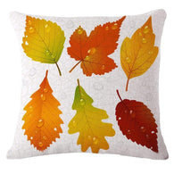 Cosy Leaves Pattern Cushion Cover