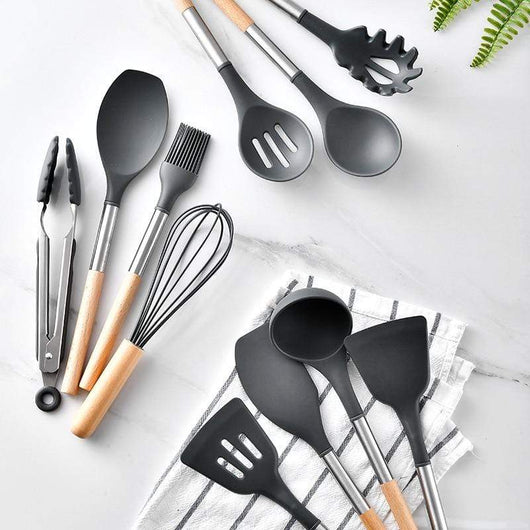 BLACK-10PCS Cosy Non-stick Cooking Tool Set 28743028-china-black-10pcs