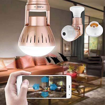 White + 32G Card Cosy Security Camera Light Bulb C1B17C62F93E477B978BD18AF81A3EE9