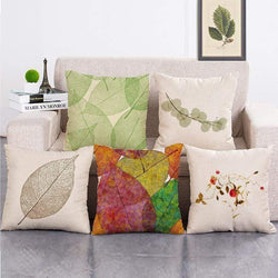 Cosy Tropical Leaf Flower Cushion Cover