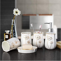 Gold Bone Set Cosy Gold Bone Ceramic Bathroom Set 31507170-golden