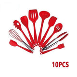 RED-10PCS Cosy Non-stick Cooking Tool Set 28743028-china-red-10pcs
