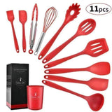 RED-11PCS Cosy Non-stick Cooking Tool Set 28743028-china-red-11pcs