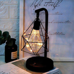 Yellow | Battery Cosy Retro Iron Art Table Lamp 33323878-c-yellow-battery
