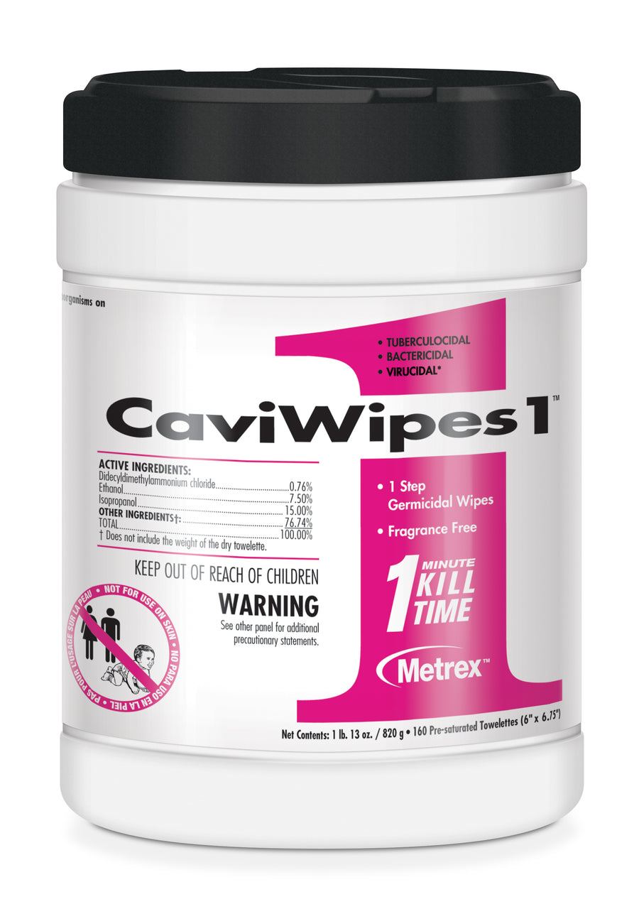 "Metrex CaviWipes1 (6"" x 6.75""), 160 count"