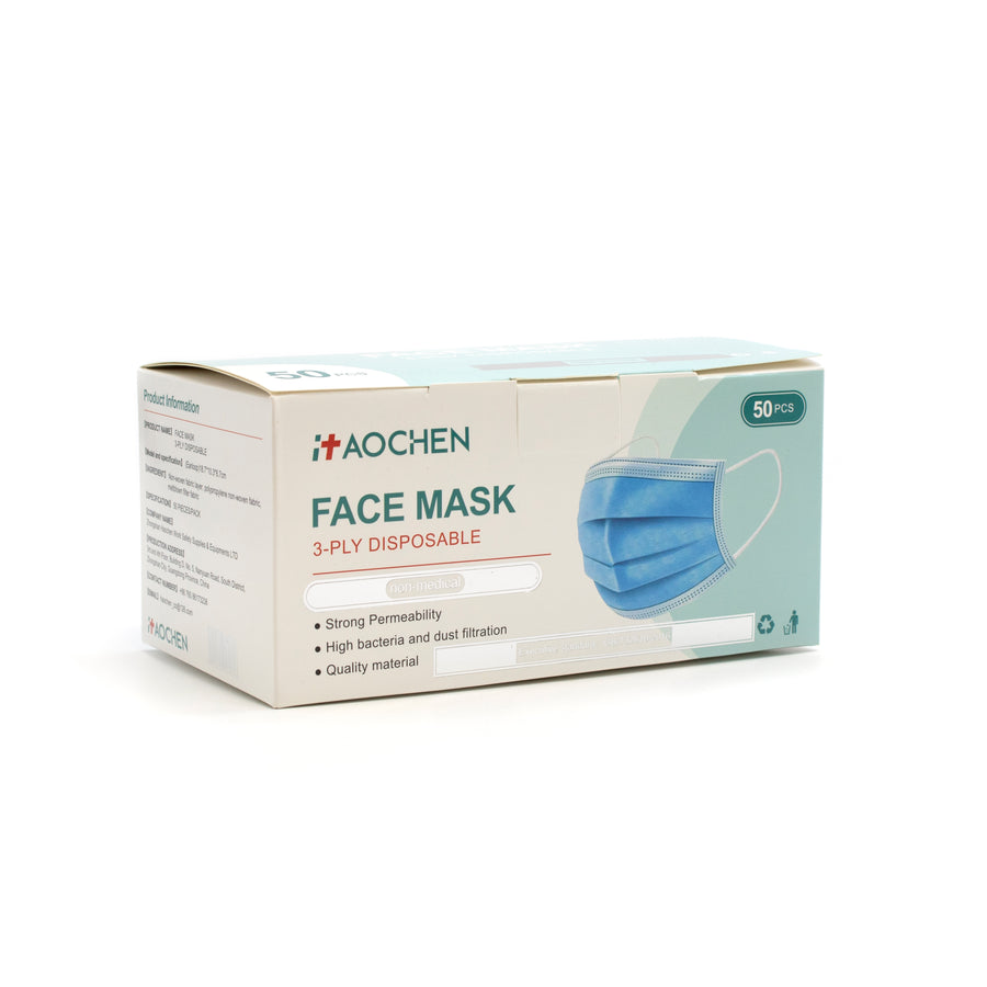 Aochen Face Mask 3-Ply Earloop 50/Box