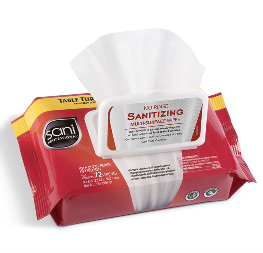 Sani No-Rinse Sanitizing Wipes 72ct