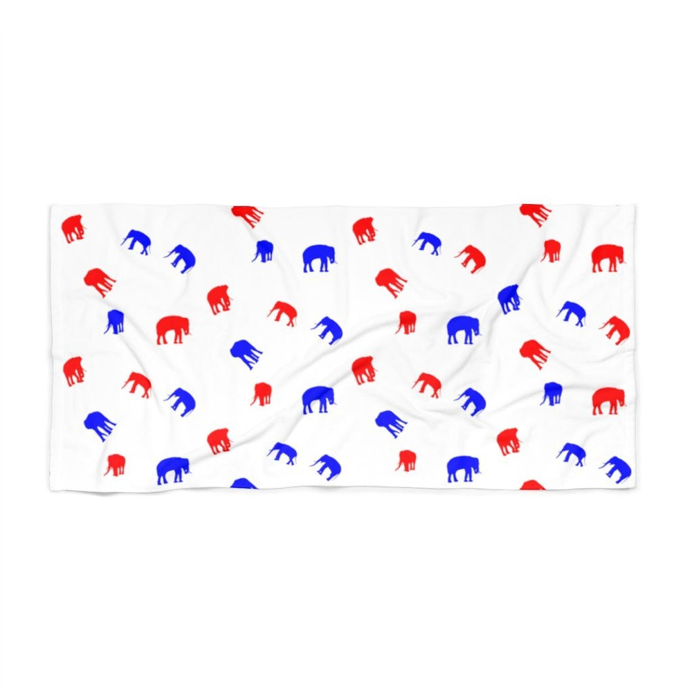 "Load image into Gallery viewer, ""Elephant Pattern"" Beach Towel"
