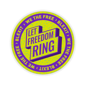"""Let Freedom Ring"" Sticker"