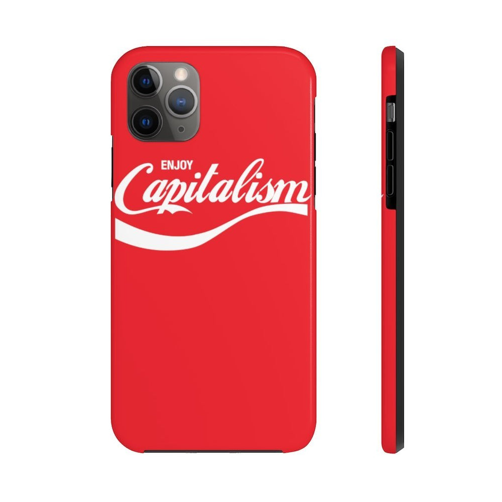 "Load image into Gallery viewer, ""Enjoy Capitalism"" iPhone Case"