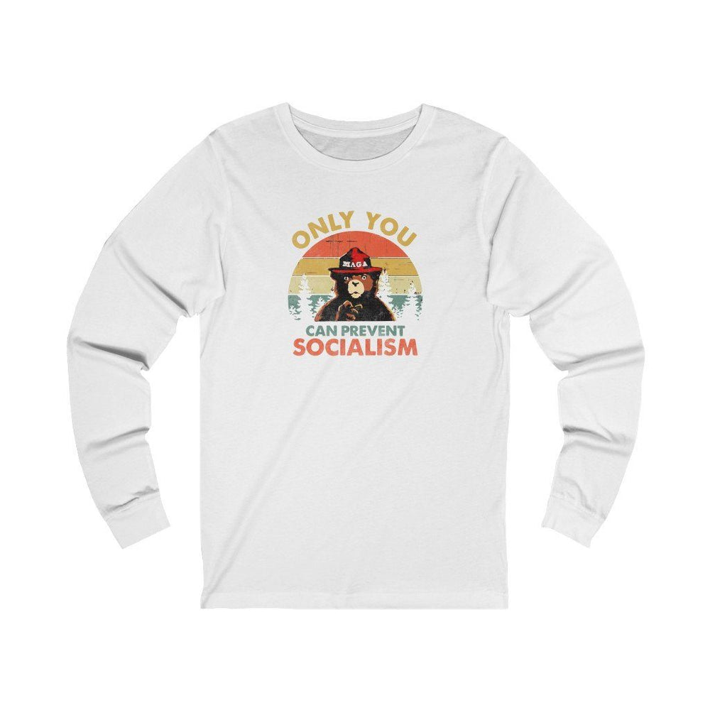 """Only You Can Prevent Socialism"" Women's Long Sleeve Tee"